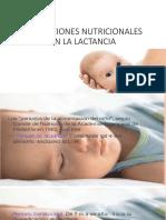 Alteraciones Nutricionales en La Lactancia