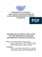 MOS for Large Volume Repairs to Damaged RC Elements