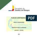 Plan de Contingencia Frente a Inundaciones 2017