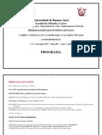 Programa Jornadas 2 3 y 4 de Agosto 2017