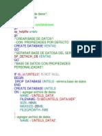 Lista de Base de Datos