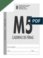 m5 Ferias Aluno 2013