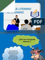Lenguaje Literario y No Literario