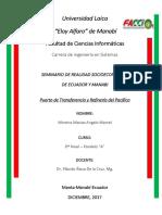 Trabajo Autonomo 6 Seminario de Realidad Socioeconomico Del Ecuador y Manabi