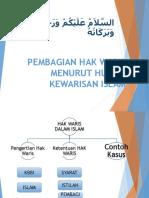 Pembagian Hak Waris Menurut Hukum Kewarisan Islam