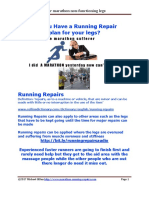 marathoner do you have a running repair plan for after the event stiffness and soreness