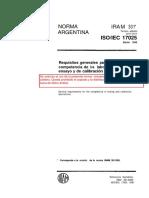 IRAM 301-00. ISO 17025-99 – Requisitos generales para la competencia de los laboratorios de ensay.pdf