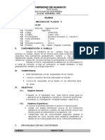 SILABO DE  MECANICA DE  FLUIDOS  II - 2015-2.doc