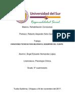 Variaciones Técnicas Para Mejorar El Desempeño Del Cliente. (Tema de Expo).