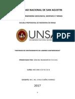 Metodos de Sostenimiento de Labores Subterraneas