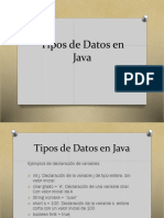 Tipos de Datos en Java