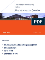 041915 Virtual Machine Instrospection Overview