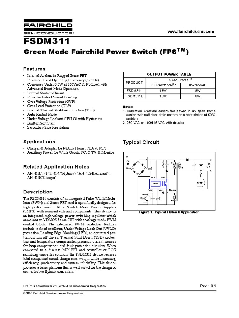 Dm311 Field Effect Transistor Capacitor Protection Of The Mosfet In Flyback Power Supply