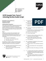ECPE Sample C Audio Script