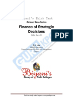 Finance of Strategic Decisions
