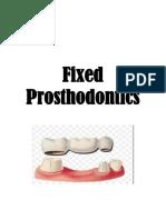 Fixed Prosthodontics
