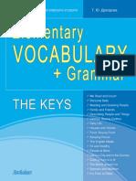 Elementary Vocabulary Grammar Answer Key