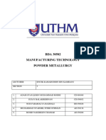 Module Final Compile Report Manufacturing