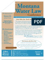 10th annual Montana Water Law Conference  Brochure