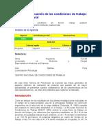 Evaluacion de Las Condiciones de Trabajo, Carga Postural