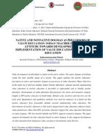 Native and Nonnative Dogmas as Precursors of Value Education- Indian Teacher Educators' Attitude Towards Development and Implementation of Value