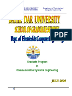 PG in Communication Systems Engineering Carriculum