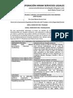 Modelo de Demanda Laboral de Indemnización Por Despido Arbitrario - Autor José María Pacori Cari