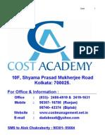 148_studymat_pcc Cost May 2010