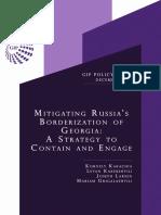 Mitigating Russia's Borderization of Georgia