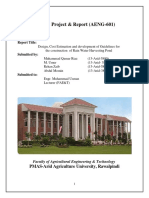 Design, Cost Estimation and development of Guidelines for  the construction  of Rain Water Harvesting Pond.