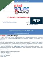 SAP HANA Administration Training | SAP HANA ADMIN online Training