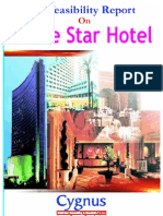 TOC of Pre Feasibility Report on Five Star Hotel