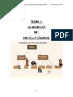 TEMA II. La Sociedad Del Antiguo Regimen.