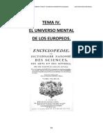 Tema IV. El Universo Mental de Los Europeos.