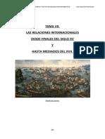 Copia de TEMA VII Relaciones Internacionales en El Siglo XVI