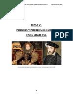 Tema Vi. Poderes de Europa en El Siglo Xvi