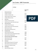SAP FICO Transaction Codes - ERP Financials
