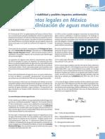 Requerimientos Legales en Mexico Para La Desalinizacion de Aguas Marinas
