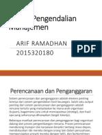 Sistem Pengendalian Manajemen Bab 8