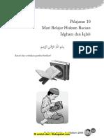 Pelajaran 10 Mari Belajar Hukum Bacaan Idgham Dan Iqlab