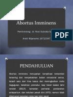 Abortus Imminens Presentasi