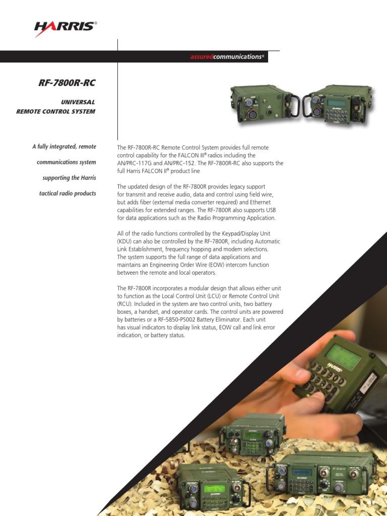 Rf-7800r-Rc Universal Remote Control System Tcm26-12078