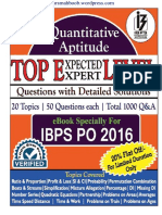 IBPS PO High Level Maths Book