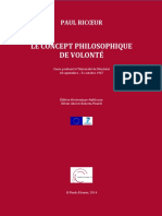 Le Concept Philosophique de La Volonte Introduction