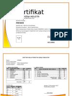 SErtifikat PKL