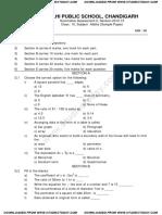 CBSE Class 6 Maths Question Paper SA 2 2013