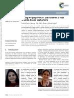 Sheene 2016 - Tuning the Properties of Cobalt Ferrite_a Road Towards Diverse Applications