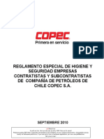 Reglamento Higiene y Seg Contratistas y Subc COPEC 2010