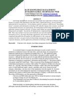 Corporate Knowledge Management via INTERNET Based Global Technology Web