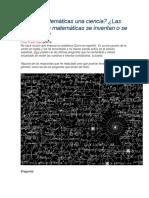 Las Matemáticas Una Ciencia